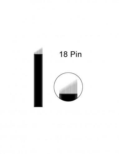 9 Round Blades Microblading İğnesi - 9R Yuvarlak Gölgeleme İğnesi