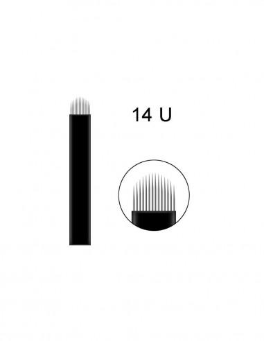 12 Flat Blades Microblading İğnesi - Düz Gölgeleme İğnesi