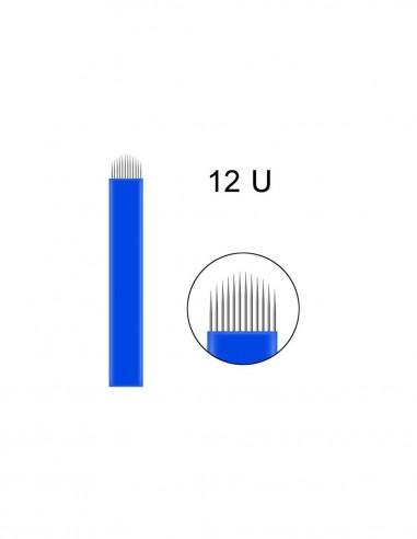 18U Microblading İğnesi 18 U Blades Beyaz