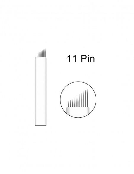 Microblading Kalemi Çift Taraflı Başlık 3D Kıl Tekniği Kalemi Bordo-Gold İşlemeli